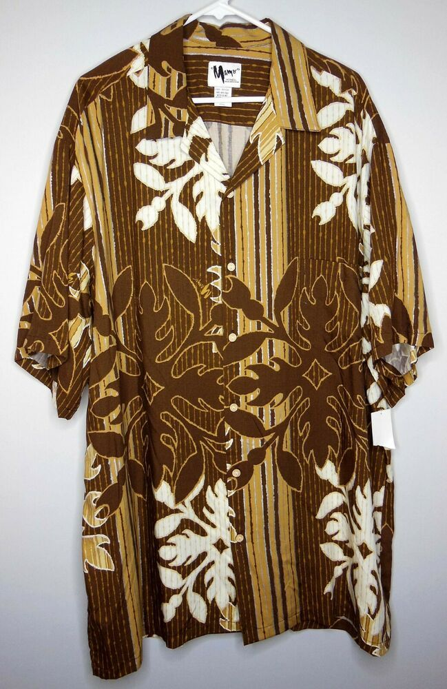 Nwt Mamo Howell Hawaiian Aloha Shirt Mens Size 2xl Xxl Made In Hawaii Rayon Mamohowell Hawaiian Aloha Dress Mens Shirts Tobago