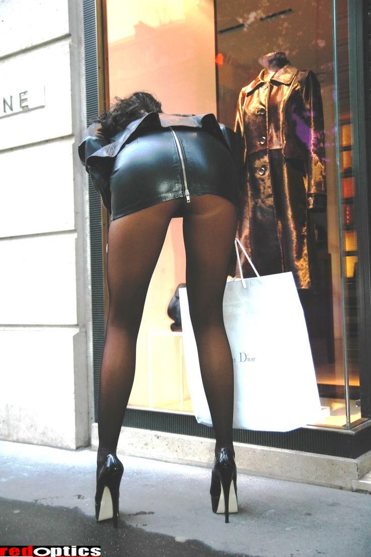 Image woman wearing panties under pantyhose