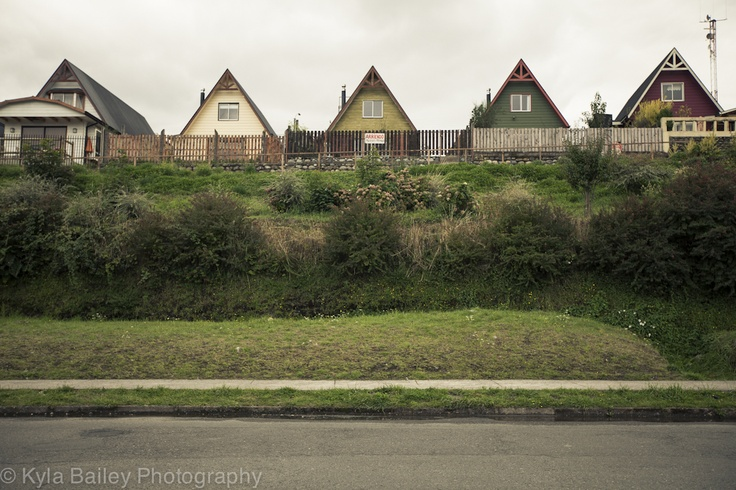 Houses outside of Valdivia, Chile.