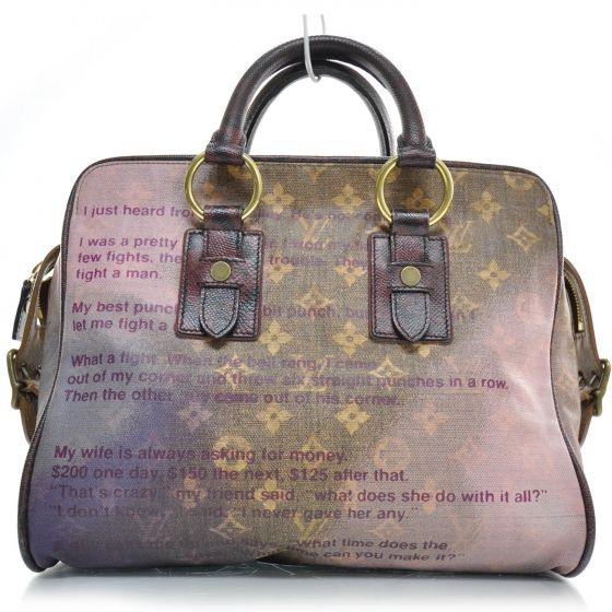 This is the authentic LOUIS VUITTON Richard Prince Graduate Jokes Bag LE.   This tote was a creative collaboration between Louis Vuitton and artist Richard Prince for a 2008 Runway show and part of the monogram jokes collection.