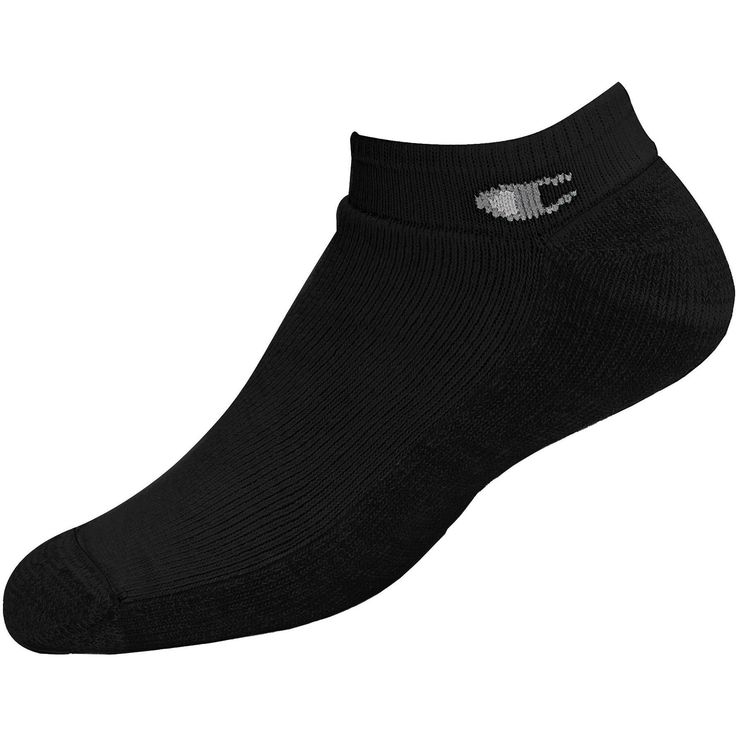 Champion Double Dry High Performance Mens Full Cushion Extra Low-Cut Socks Extended Sizes 3-Pack