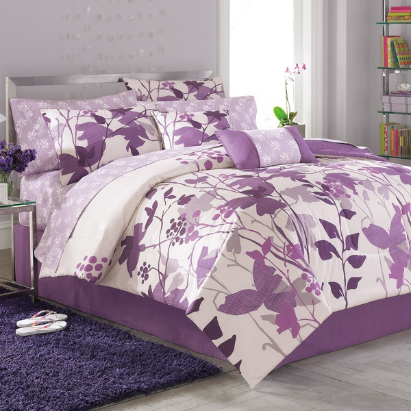 This Will Be My Dorm Bedding Purple And White Dorm
