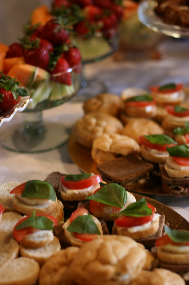 finger food ideas for bridal shower%0A I like the fruit bowls in the back  Find this Pin and more on Bridal Shower  Menu Ideas