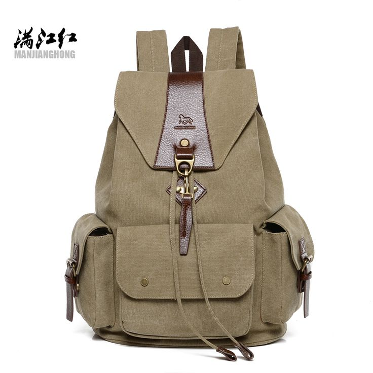 Canvas Camouflage Shoulder Bag Fashion Personality Rivets Leisure Travel Backpack B073YBRMX7