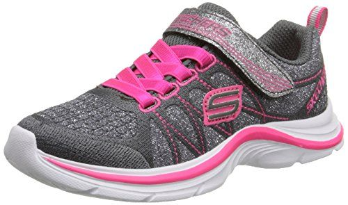 Skechers Kids Swift Kicks Running Shoe, Charchaol/Neon Pink,1.5 M US Little Kid * You can get additional details at the image link.