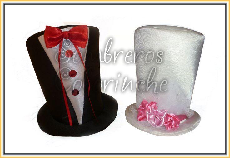 Sombreros, Galerones De Cotillon, Fiesta Homenajeados,novios - $ 180,00 en MercadoLibre