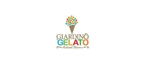 Giardino Gelato Logo Design | More logos http://blog.logoswish.com/category/logo-inspiration-gallery/ #logo #design #inspiration