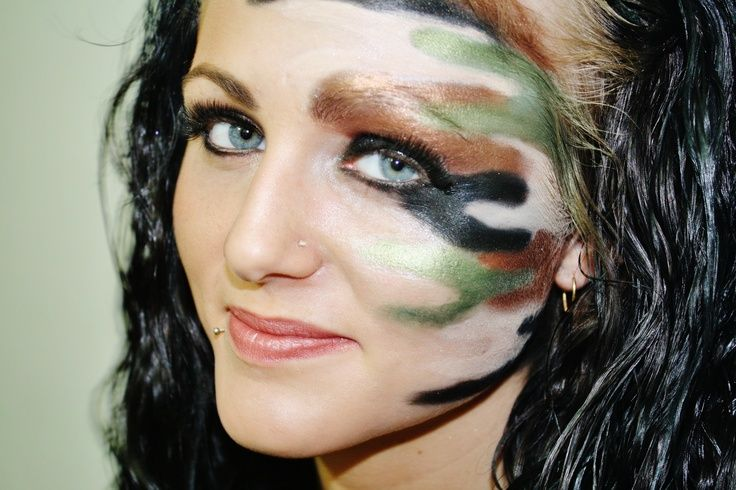 camo face painting | camo #makeup #inspiration