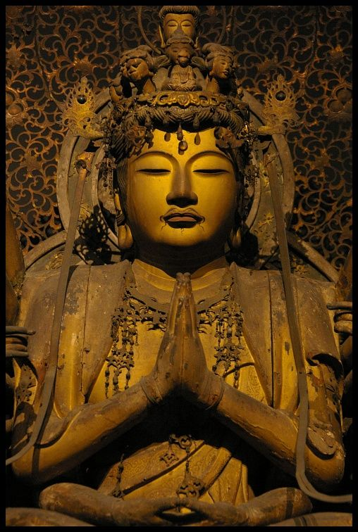 Sente #Kannon (#Guanyin) #Bosatsu Statue, Nanbokucho era (14 century), #Japan