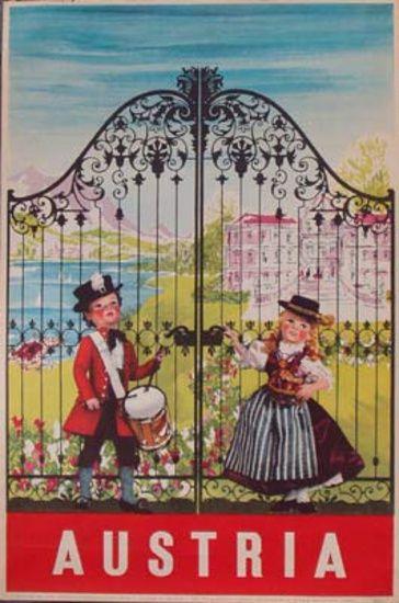 Vintage Travel Poster - Austria - 1950s.