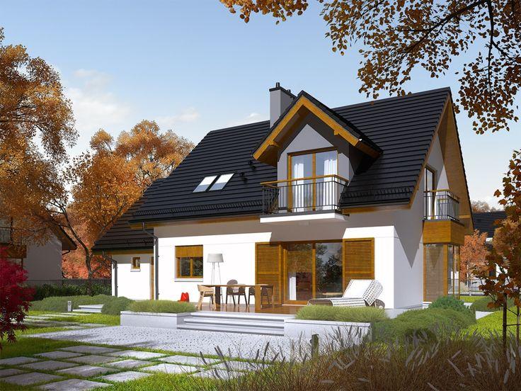 DOM.PL™ - Projekt domu AC Marisa V G1 ENERGO CE - DOM AF8-15 - gotowy projekt domu