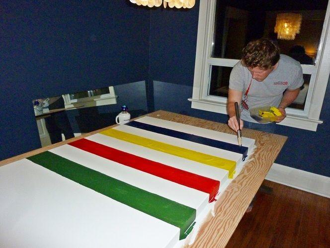 DIY Hudson Bay inspired painting