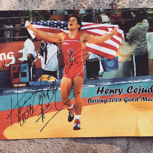 #tbt Back in 2009 around this time we had a special visitor walk through the door. It was #beijing 2008 #Olympic Gold Medalist Henry Cejudo. #HenryCejudo is the youngest #American Wrestler to ever win an Olympic Gold Medal. It was a pretty awesome experience, I was now sitting next to a young legend. He was really humble, funny and down to earth. He was in town for a #wrestling event in Albany, he needed some t-shirts for the event. It was around noon when he came in, the event was at 5…