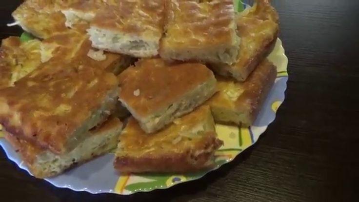 Рецепт - Ленивый капустный пирог. Видео рецепт
