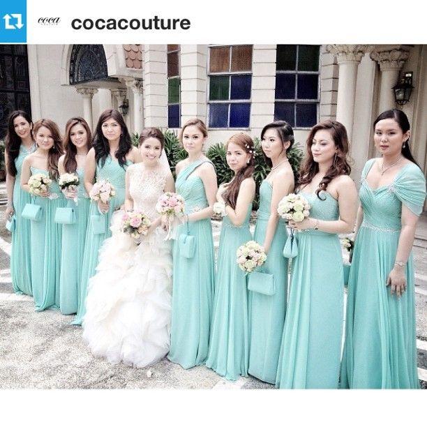 Wedding Entourage Gowns: Dre Tetangco Entourage Dresses