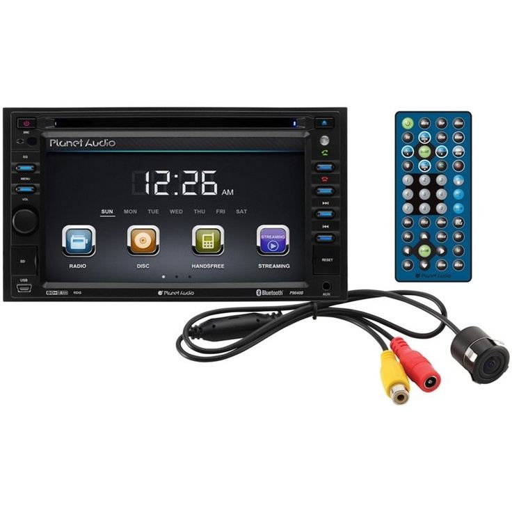 "Planet Audio P9640BRC 2-DIN 6.2"" LCD DVD CD Bluetooth Car Stereo + Backup Camera #PlanetAudio"
