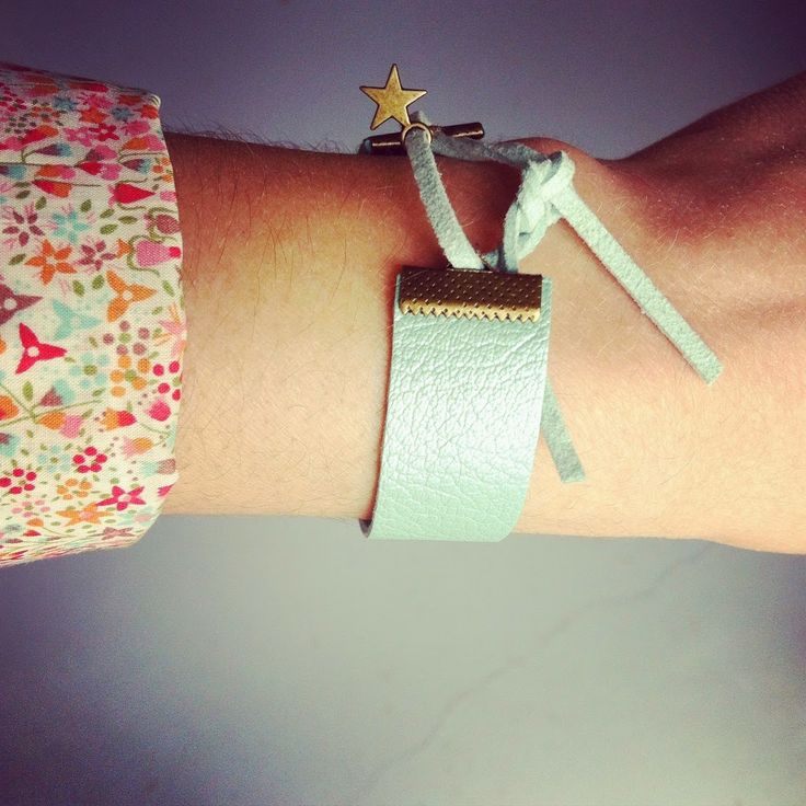 bracelet en cuir & lien en cuir #violaineosiocreation