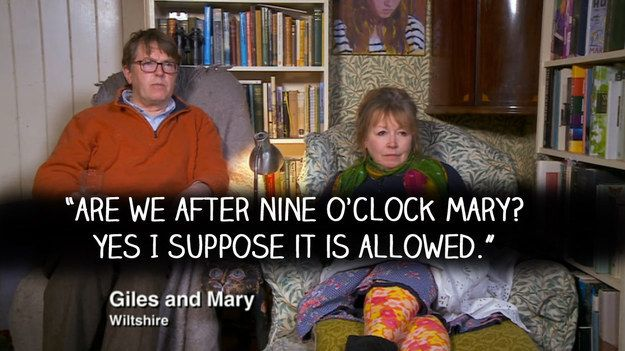 """Giles and Mary reacted like this. 
