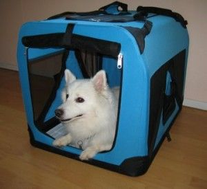 9.Blue Pet House Soft Crate Carrier Large