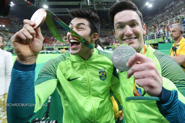 Arthur Nory Mariano e Diego Hypolitp - Rio 2016 - Foto: CBG