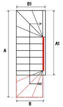 Demande de devis ESCALIERS DÉCORS® : escalier double quart tournant haut et bas