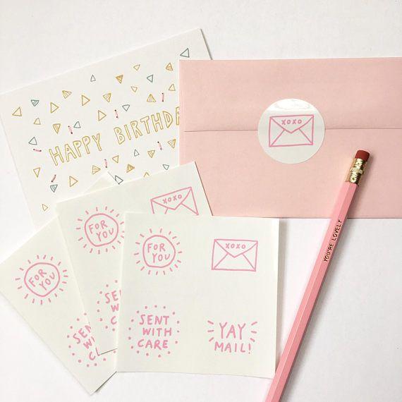 Envelop Seal Stickers 12 pack. Slakkenpost. Pen fondsen Pal.