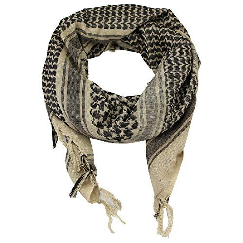 100% Cotton Tactical Shemagh Military Desert Arab Keffiyeh Shawl Head Neck Scarf Wrap For Men Women - These are the genuine high quality Arab scarves! Enjoy contemporary style with this Arab scarf, it can be coordinated with any colour and style. These Arab scarves also known as Keffiyeh or Shemagh are the traditional Arab symbol wear. Made from 100% cotton scarf is naturally fresh, breathable, s...