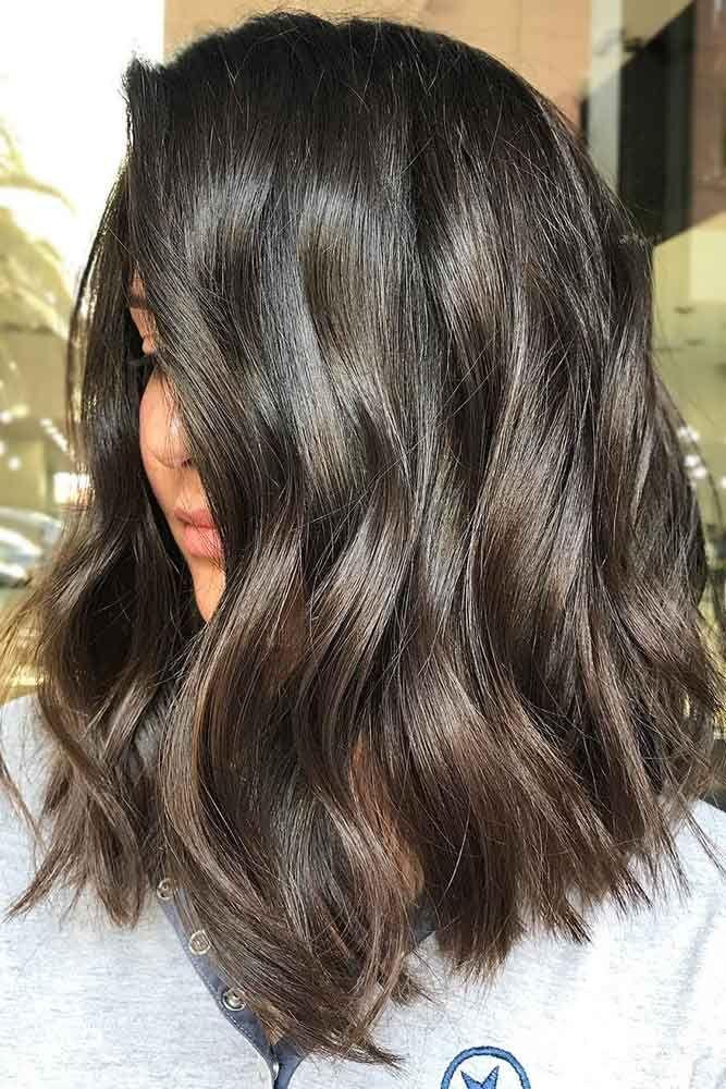 35 Refreshing Lowlights Ideas For Dimensional Hair Colors Lob Haircut Coffee Brown Hair Brown Hair With Highlights