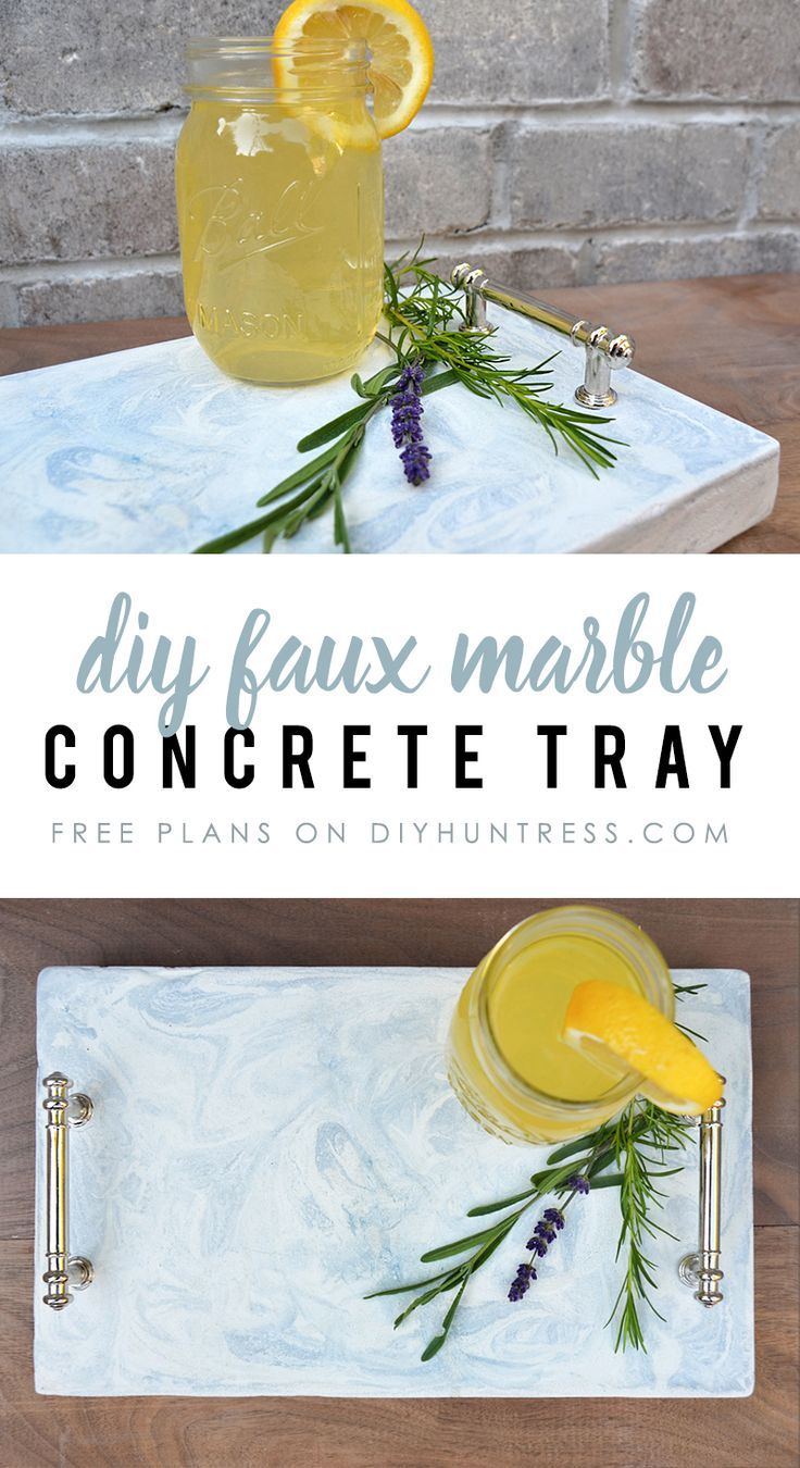 DIY Woodworking Ideas How to make a Faux Marble Concrete Tray