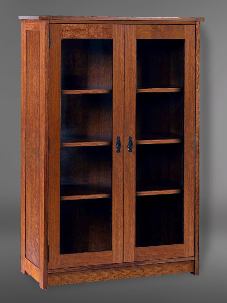 Arts Amp Crafts Mission Style Solid Oak Double Door Glass