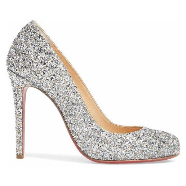 CHRISTIAN LOUBOUTIN Fifille Sparkle Pump ❤ liked on Polyvore featuring shoes 3b3e2375b