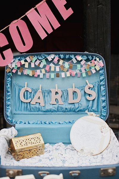 A suitcase to put cards in