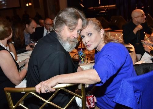 Mark Hamill Reunites With Carrie Fisher, Shows Off Wild and Wookiee 'Star Wars' Beard and Carries Looking Hot Again !!!