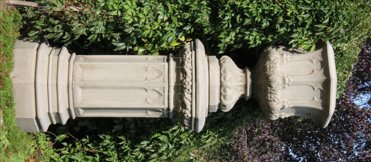 URNE WINCHESTER engl. Sandstein frostfest 138cm XL Amphore Steinguss Vase - Fa. LISE BENT