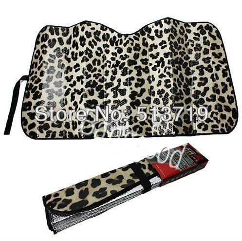 Automobiles Auto Front Window Visor Sun Shade Windshield Sunshade Cheetah Leopard Cover Exterior Accessories Car Sticker for Car