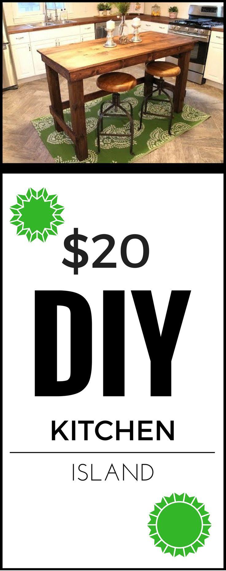 $20 DIY Kitchen Island