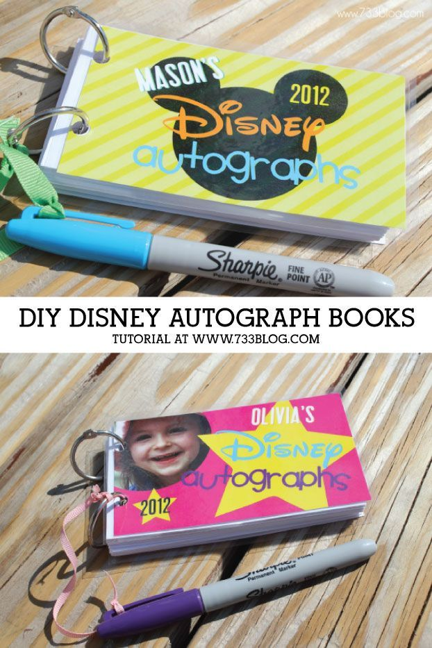 DIY Autograph Books Tutorial - learn how to make these books for under $3 each!