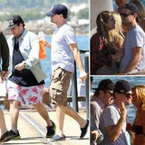 Leonardo DiCaprio and Jonah Hill Party Yachtside in Australia - Leonardo DiCaprio and Jonah Hill were spotted hopping on a yacht in Sydney, Australia today. The Django Unchained costars, along with friends including Lukas Haas and Kevin Connolly, joi