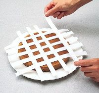 Gingham Variation - Cut clean sheets of paper into 8 to 10