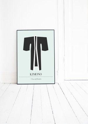 KIMONO graphic illustration by Pernilla Algede. Buy at houseofbeatniks.com