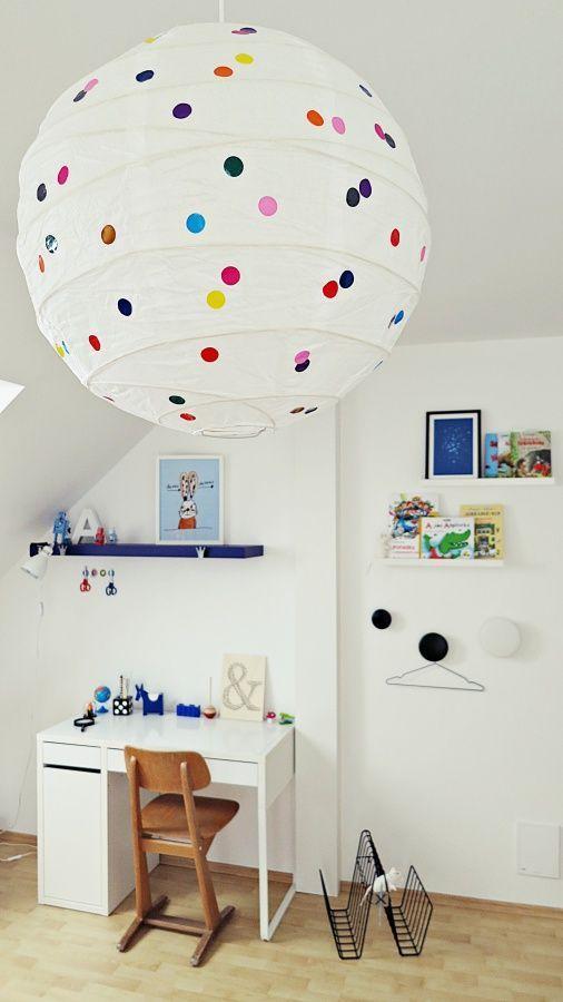 Lampe mit Pünktchen fürs Kinderzimmer