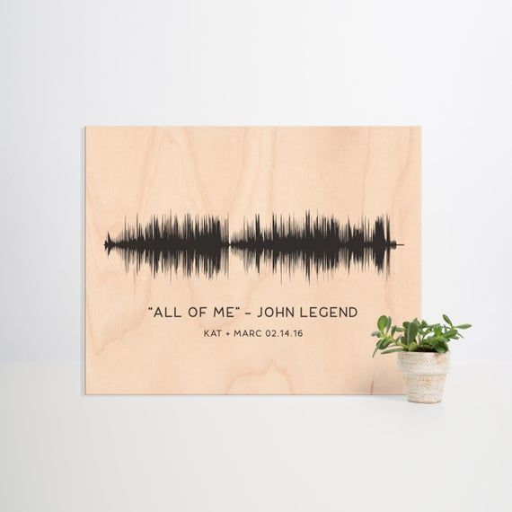 Custom Sound Wave on Wood, First Dance Song Gift, Anniversary Gift for Husband, Gift for Boyfriend, Favorite Song, Gift for Friend