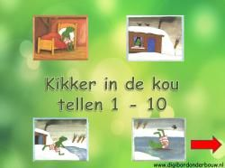 Kikker tellen 1 - 10  http://digibordonderbouw.nl/index.php/themas/winter/kikkerindekou