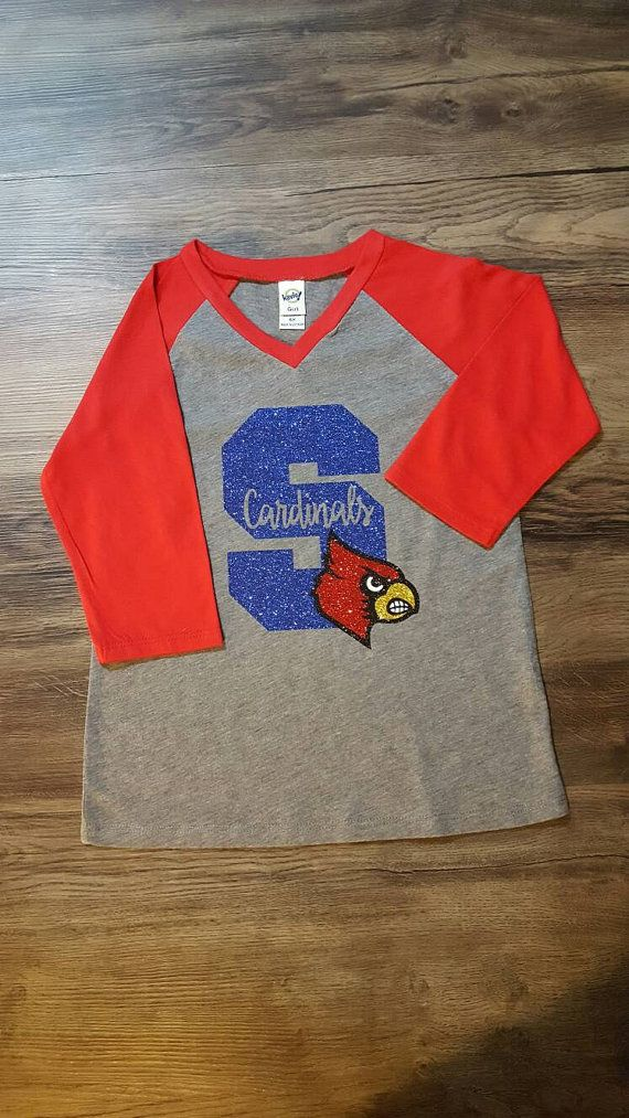 School Spirit shirt ADULT with letter and FULL mascot by HaylieCo