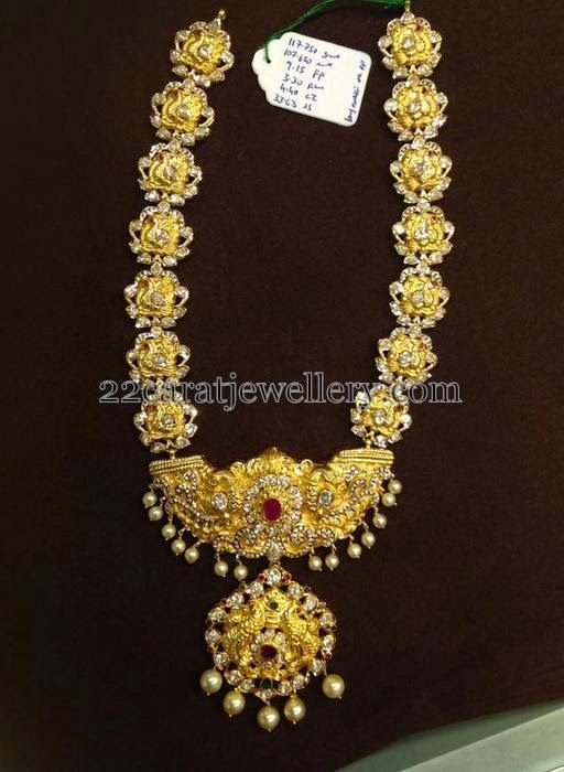 Jewellery Designs: Crafted Nakshi Long Chain 110 Grams