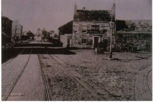 The original Black Bull at the junction of Walton Vale, Warbreck and Aintree.