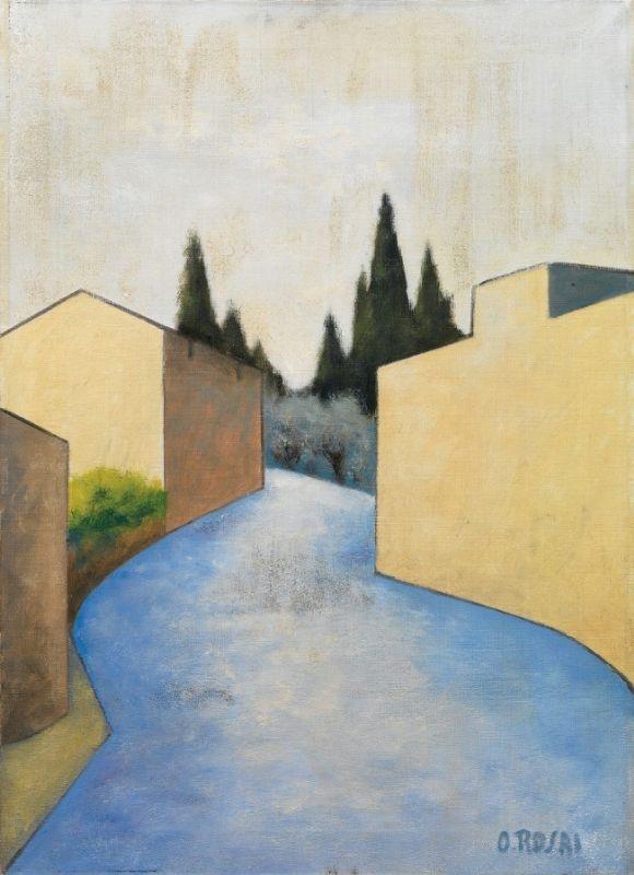 Ottone Rosai - Strada sui colli fiorentini