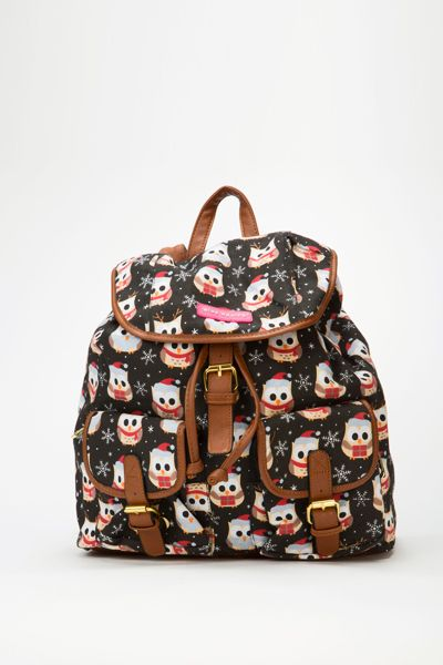 Christmas Owl Backpack