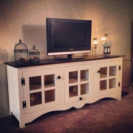 Farmhouse media console | Do It Yourself Home Projects from Ana White
