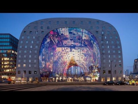 Markthal : Rotterdam's new market housed under huge residential arch